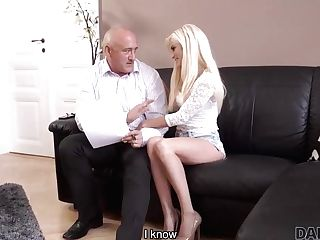Daddy4k. Rubdown Then Old And Youthfull Fucky-fucky Makes Gf And...