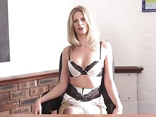 Elegant Educator Leah Gets Naked And Shows Off Off Her Perky Yummy...