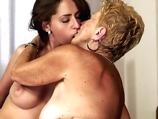 Matures Blonde Can't Get Enough Of Fucking A Slender Youthful...