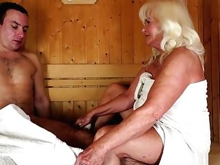 Horny Blonde Matures Has A Youthfull Man Fulfilling Her Needs In...