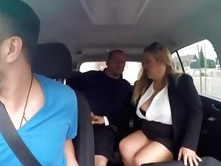 German Bbw Cougar Fucked In The Back Of Car