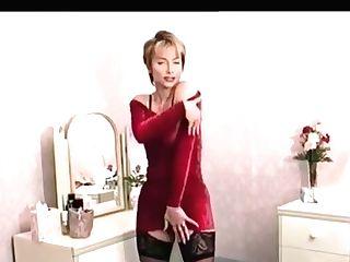 Beautiful Vida Garman In A Crimson Sundress